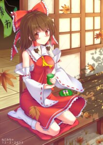 Rating: Safe Score: 22 Tags: hakurei_reimu nekomicha sarashi touhou User: Mr_GT