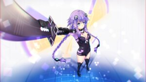 Rating: Safe Score: 23 Tags: choujigen_game_neptune cleavage leotard purple_heart sword thighhighs wallpaper wings User: Nico-NicoO.M.