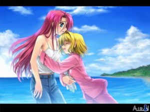 Rating: Safe Score: 5 Tags: air kamio_haruko kamio_misuzu moonknives pajama User: kyoushiro