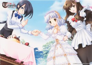 Rating: Safe Score: 10 Tags: hanon lolita_fashion maid miu_(triptych) nimura_yuuji rei_(triptych) triptych User: admin2