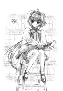 Rating: Safe Score: 8 Tags: carnelian monochrome sketch thighhighs User: Feito