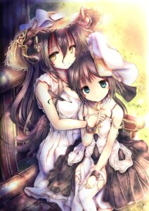 Rating: Safe Score: 83 Tags: cleavage dress horns kaisu thighhighs wings User: Mr_GT