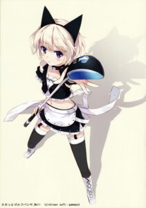 Rating: Safe Score: 59 Tags: animal_ears maid nekomimi nell nyanya pangya stockings thighhighs trap User: van