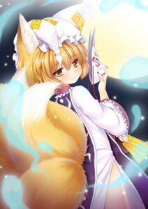 Rating: Safe Score: 20 Tags: animal_ears kitsune ookami_ryuu tail touhou yakumo_ran User: Mr_GT