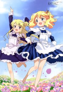 Rating: Safe Score: 58 Tags: alice_cartelet kin'iro_mosaic kujou_karen maid ozeki_miyabi skirt_lift User: drop