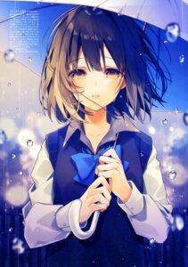 Rating: Safe Score: 35 Tags: oshio_shio seifuku sweater umbrella User: drop