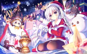 Rating: Safe Score: 55 Tags: akabane christmas dress kasugano_sora pantyhose sphere yosuga_no_sora User: Hatsukoi