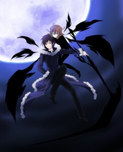 Rating: Safe Score: 15 Tags: celty_sturluson durarara!! kizuna orihara_izaya wings User: charunetra