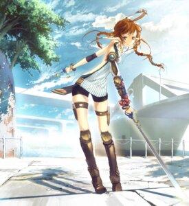 Rating: Safe Score: 32 Tags: elf katou_taira pixiv_fantasia pointy_ears sword User: yumichi-sama