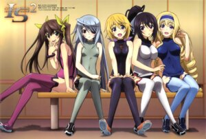 Rating: Safe Score: 101 Tags: bodysuit cecilia_alcott charlotte_dunois eyepatch huang_lingyin infinite_stratos laura_bodewig mizukami_rondo shinonono_houki thighhighs User: drop