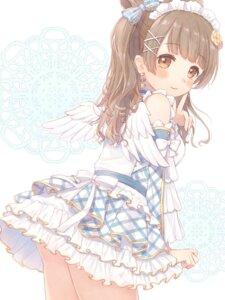 Rating: Safe Score: 20 Tags: kazane_mari love_live! minami_kotori skirt_lift wings User: leotard