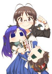 Rating: Safe Score: 16 Tags: akane_(artist) akizuki_ritsuko chibi chihyaa harukasan megane puchimasu! the_idolm@ster User: saemonnokami