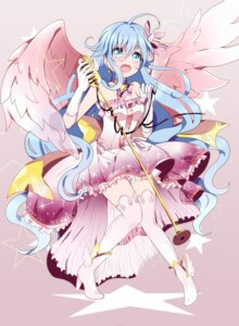 Rating: Safe Score: 18 Tags: cleavage dress sukihi thighhighs wings User: charunetra