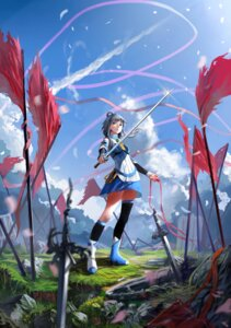 Rating: Safe Score: 29 Tags: lu_ying luo_tianyi sword thighhighs vocaloid User: zero|fade