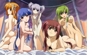 Rating: Questionable Score: 102 Tags: ass breast_hold fuyou_kaede kojima_chika lisianthus naked nerine pointy_ears primula shigure_asa shuffle User: boon