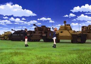 Rating: Safe Score: 9 Tags: girls_und_panzer nishizumi_maho nishizumi_miho uniform User: drop