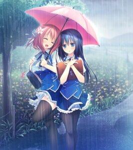 Rating: Safe Score: 79 Tags: alcot_honeycomb game_cg hoshino_nagisa kimi_no_tonari_de_koishiteru! komatsu_rina motomiya_mitsuki pantyhose seifuku thighhighs umbrella User: donicila