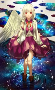 Rating: Safe Score: 26 Tags: kishin_sagume touhou wet wings ze_xia User: charunetra