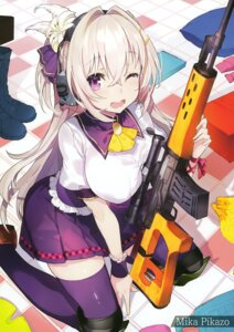 Rating: Safe Score: 69 Tags: gun headphones mika_pikazo possible_duplicate seifuku tagme thighhighs User: Hatsukoi