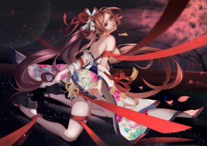 Rating: Safe Score: 35 Tags: japanese_clothes no_bra onmyouji open_shirt sword yaodao_ji yun_lin User: Mr_GT