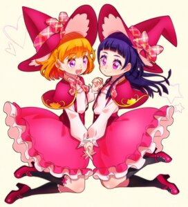 Rating: Safe Score: 11 Tags: asahina_mirai dress heels izayoi_riko mahou_girls_precure! pretty_cure witch yupiteru User: Radioactive