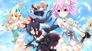 Rating: Safe Score: 26 Tags: armor blanc choujigen_game_neptune cleavage dress four_goddesses_online:_cyber_dimension_neptune game_cg neptune noire stockings sword thighhighs tsunako vert weapon User: Nepcoheart