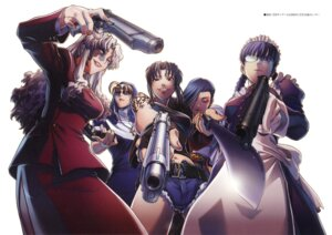 Rating: Safe Score: 32 Tags: balalaika black_lagoon eda gun hiroe_rei maid megane nun revy roberta shenhua sword tattoo User: Lore