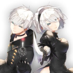 Rating: Safe Score: 31 Tags: dress nier_automata saihate sword yorha_no.2_type_b yorha_no._9_type_s User: mash