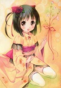 Rating: Safe Score: 91 Tags: kimono kogemashita takoyaki thighhighs User: yong