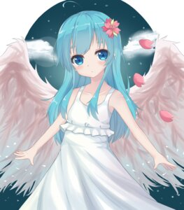 Rating: Questionable Score: 43 Tags: dress l4no-shiro shiro_sakamachi summer_dress wings User: L4No