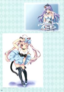 Rating: Questionable Score: 17 Tags: animal_ears cleavage kamiya_maneki tail thighhighs User: crim
