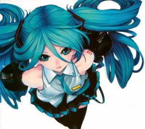Rating: Safe Score: 41 Tags: hatsune_miku kunishige_keiichi thighhighs vocaloid User: Kalafina