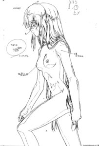 Rating: Questionable Score: 8 Tags: andou_mahoro mahoromatic monochrome naked nipples sketch User: Wraith