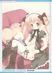 Rating: Questionable Score: 24 Tags: gothic_lolita lolita_fashion morinaga_korune pantsu string_panties thighhighs undressing User: admin2