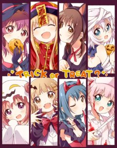 Rating: Safe Score: 5 Tags: akaza_akari animal_ears bandages cleavage funami_yui furutani_himawari halloween ikeda_chitose namori nekomimi nurse oomuro_sakurako sugiura_ayano toshinou_kyouko witch yoshikawa_chinatsu yuru_yuri User: aaayu