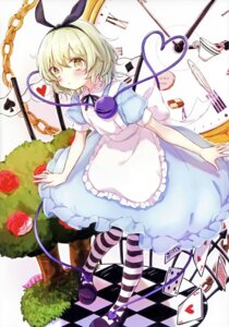 Rating: Safe Score: 32 Tags: alice alice_in_wonderland cosplay dress honotai komeiji_koishi ponopp touhou User: NotRadioactiveHonest