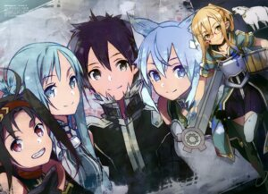 Rating: Safe Score: 50 Tags: abec animal_ears armor asuna_(sword_art_online) kirito konno_yuuki megane nekomimi sinon sword_art_online thighhighs User: AltY