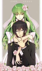 Rating: Safe Score: 19 Tags: c.c. code_geass dress lelouch_lamperouge lucky_lcr wedding_dress User: charunetra