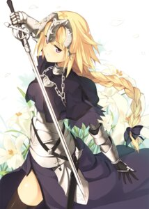 Rating: Safe Score: 70 Tags: armor fate/apocrypha fate/stay_night kinta_(distortion) ruler_(fate/apocrypha) sword thighhighs User: 椎名深夏