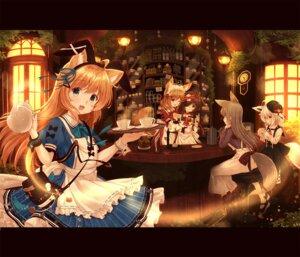Rating: Safe Score: 31 Tags: animal_ears bunny_ears kitsune maid misaki_yuu nekomimi tail waitress User: Mr_GT