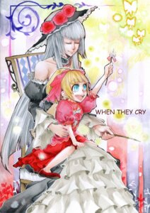 Rating: Safe Score: 8 Tags: beatrice dress noppo umineko_no_naku_koro_ni virgilia User: charunetra