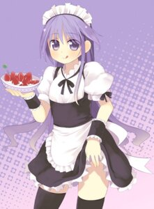 Rating: Safe Score: 25 Tags: happiness kashiwamochi_yomogi maid thighhighs trap watarase_jun User: Radioactive