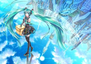 Rating: Safe Score: 11 Tags: hatsune_miku thighhighs vocaloid yuuno_(yukioka) User: Riven