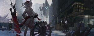 Rating: Safe Score: 26 Tags: arknights horns landscape nian_(arknights) sword zhai User: Arsy