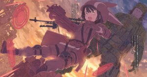 Rating: Safe Score: 17 Tags: asougi_goushi bodysuit gun kohiruimaki_karen kuroboshi_kouhaku llenn m sword_art_online_alternative:_gun_gale_online User: kiyoe