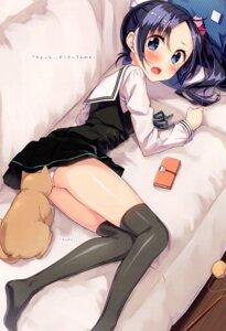 Rating: Questionable Score: 44 Tags: neko pantsu sakuragi_ren seifuku skirt_lift thighhighs User: kiyoe