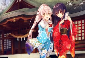 Rating: Safe Score: 44 Tags: isokaze_(kancolle) kantai_collection kimono saijou_yukina yura_(kancolle) User: Mr_GT