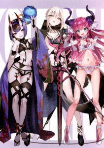 Rating: Questionable Score: 52 Tags: bikini elizabeth_bathory fate/grand_order garter_belt gasshuukoku_nekometaru horns lingerie nekometaru shuten_douji_(fate/grand_order) swimsuits User: kiyoe