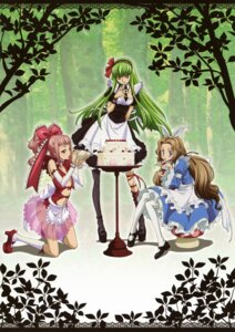 Rating: Safe Score: 49 Tags: anya_alstreim c.c. code_geass cream dress kimura_takahiro maid nunnally_in_wonderland nunnally_lamperouge pantyhose User: Radioactive
