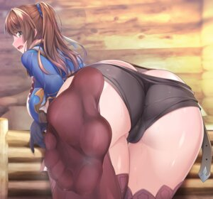 Rating: Questionable Score: 128 Tags: ass beatrix_(granblue_fantasy) cameltoe feet granblue_fantasy naturalton pantsu panty_pull thighhighs User: Mr_GT